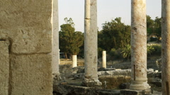 Video of Beit She'an columns shot in Israel. Stock Footage