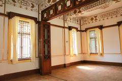 a heritage buildings of King Yin Lane - stock photo