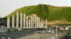 Video of a green hill at Beit She'an shot in Israel. Stock Footage