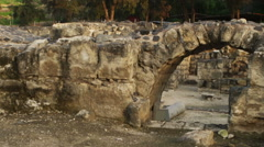 Video of Beit She'an ruins shot in Israel. Stock Footage