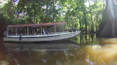 Boat Trip At the Amazon River in South America, Brazil Stock Footage