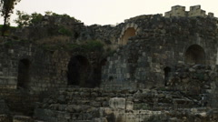 Video of ruined Beit She'an buildings shot in Israel. Stock Footage