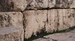Video of ancient theater seating shot in Israel. Stock Footage