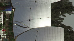 Video panorama of a solar power plant shot in Israel. Stock Footage