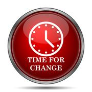 Time for change. Internet button on white background.. - stock illustration