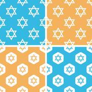 Stock Illustration of David Star pattern set, colored