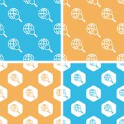 Global search pattern set, colored Stock Illustration