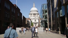 St Pauls Cathedral, London, England, Europe - stock footage