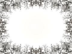 Nature Borders Frame Background - stock illustration