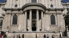 St Pauls Cathedral Facade Stock Footage