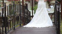 The Bride Walks Stock Footage