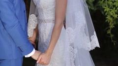 Groom Hugging Bride - stock footage