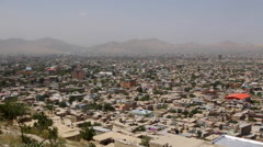 AFGHANISTAN AERIAL KABUL MOUNTAINS HINDU KUSH - stock footage