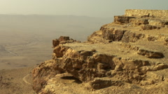 Video of Makhtesh Ramon crater shot in Israel. Stock Footage