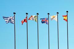 European flags - stock photo