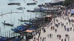 Venice Landscape people on San Marco square Stock Footage