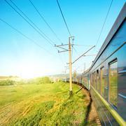 Motion train - stock photo