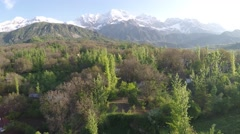 remote village in the Kyrgyzstan mountains - stock footage
