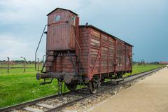 Holocaust Death Camp cattle car train Kuvituskuvat