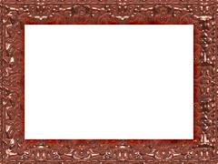 Stock Illustration of Frame in baroque style generated texture