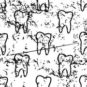 Tooth pattern grunge, monochrome Stock Illustration