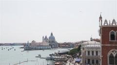 Venice Landscape Punta della Dogana Wide Angle Stock Footage