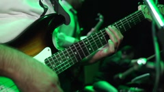 Playing Guitar - Live Concert Stock Footage