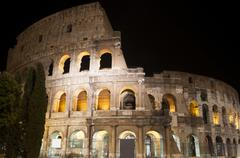 Stock Photo of coliseum at night