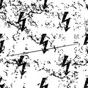 Voltage lightning pattern, grunge, monochrome - stock illustration