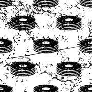 Stock Illustration of CD stack pattern, grunge, monochrome
