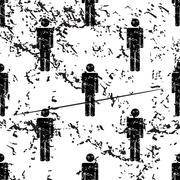 Stock Illustration of Man pattern, grunge, monochrome