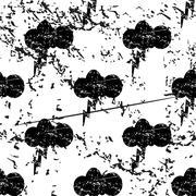Thunderbolt pattern, grunge, monochrome Stock Illustration