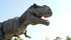 Mock of the dinosaur in Discovery Park, Turkey 2 Stock Footage