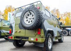 VPK-233115 Tiger-M armored vehicle. Rear view Stock Photos