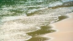 View of waves in seashore Stock Footage