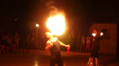 Fire show, Slow Motion 2 Stock Footage