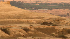 Video of a desert landscape at dusk shot in Israel. Stock Footage