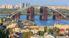 View of the city of Kiev, Ukraine Stock Footage