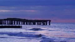 View of jetty near seashore Stock Footage