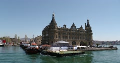 Haydarpasa Train Station, Istanbul Stock Footage