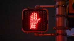 Stop sign at traffic signal Stock Footage