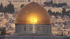 Video of the Dome Of The Rock filmed in Israel at 4k with Red. Stock Footage