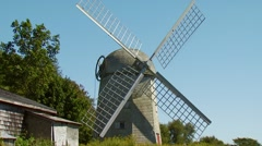 View of Jamestown Windmill Stock Footage