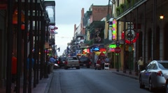 View of Bourbon Street Stock Footage