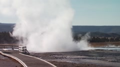 Stock Video Footage of Eruption of Old Faithful geyser in Yellowstone National Park