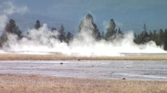 Eruption of Old Faithful geyser in Yellowstone National Park - stock footage