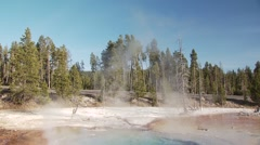 Old Faithful Geyser in Yellowstone National Park - stock footage