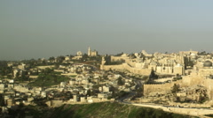 Video panorama of Old Jerusalem filmed in Israel at 4k with Red. Stock Footage