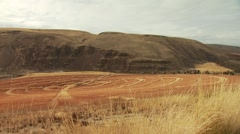 View of mountain and ranch in Arlington Stock Footage