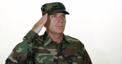 Patriotic Respect Soldier Salute Marines Troops Proud Portrait Reservist Corps Stock Footage